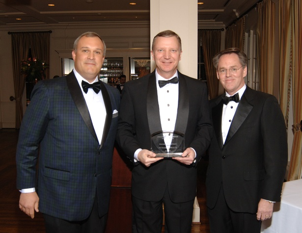 Tom Hetherington, from left, Jeff Brown and Warren Harrisat the UH Law Gala March 2015