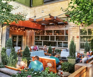 Patio at FW Market+Table in Fort Worth