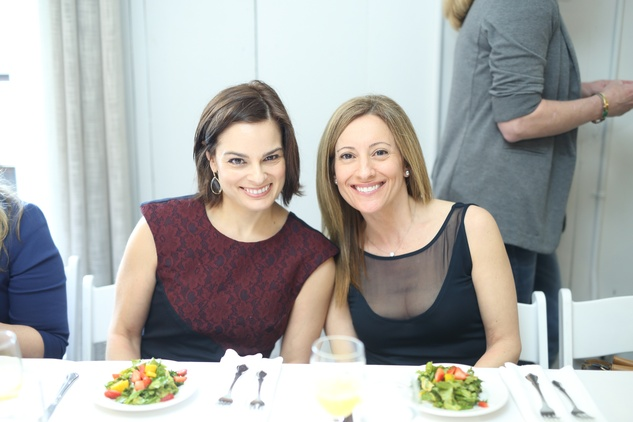 51 Kerri Lynn Inglesby, left, and Dena Winkler at the David Peck spring summer 2015 fashion show March 2015