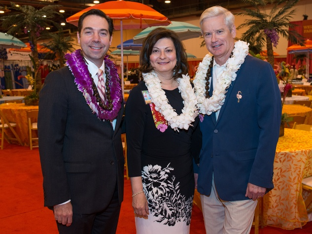 10 Jim Nelson, from left, with Cecilia and David Campbell at The Nutcracker Market preview party November 2014