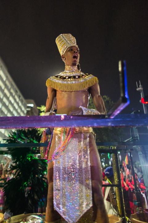 Houston Pride Parade 2016 Egyptian pharoah
