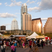 Austin skyline Gypsy Picnic atmosphere