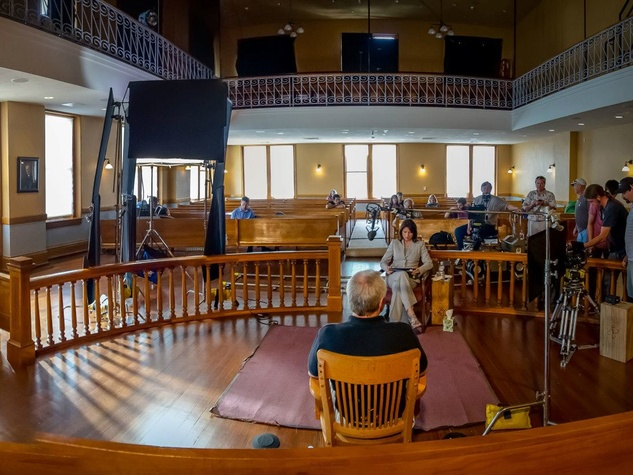An Unreal Dream The Michael Morton Story filming at the Williamson County Courthouse