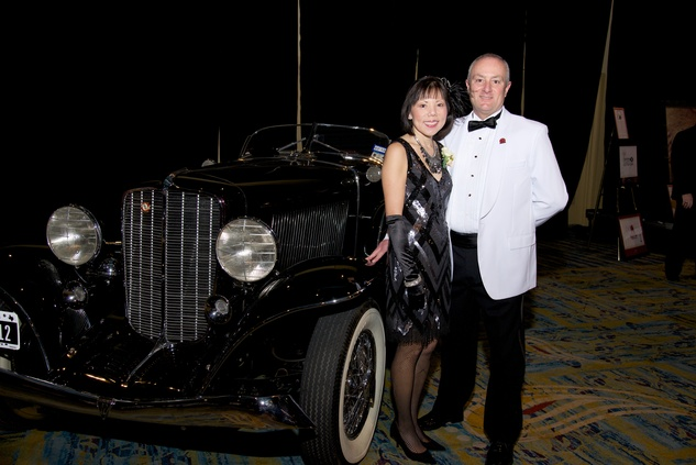 12 8119 Janet Wong and Ron Mullins at the American Heart Association's Montgomery County Heart Ball February 2015