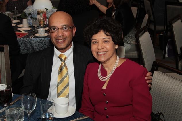 Vijay and Marie Goradia at the Houston Living Legend fundraiser dinner May 2014