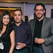 22 Diana Carbajal, from left, Ramon Arrola and Carlos Reyes at CultureMap fifth anniversary birthday party October 2014