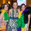 9 Heidi Chelala, from left, Maricela Diebra and Victoria Schoeahofer at the St. Thomas Mardi Gras Gala February 2015
