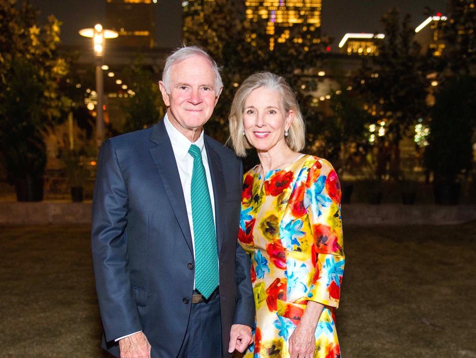 Houston, Buffalo Bayou Partnership Gala, November 2017, L.E. Simmons, Ginny Simmons