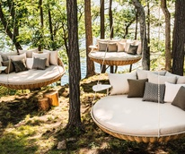 outdoor furniture Dedon Swingrest at Kuhl-Linscomb