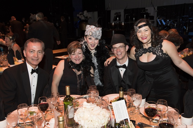 7 Richard and Carlie Yoo, from left, 1920s actor, Jonathan Godfrey and Ana Trevino-Gonfrey at the Mercury Gala 2015 March 2015