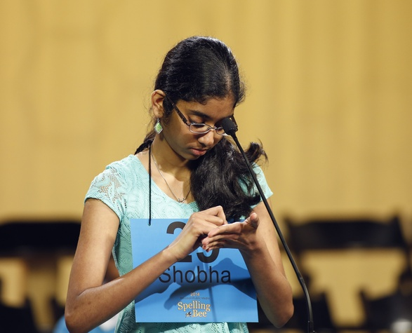 Shobha Dasari at Houston Public Media Spelling Bee