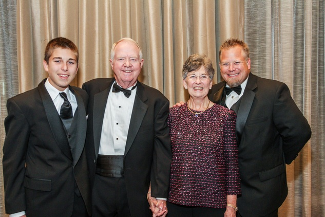 1 Bryce Dunham, from left, Archie and Linda Dunham and Cary Dunham at the Houston Baptist University Lou Holtz dinner November 2014