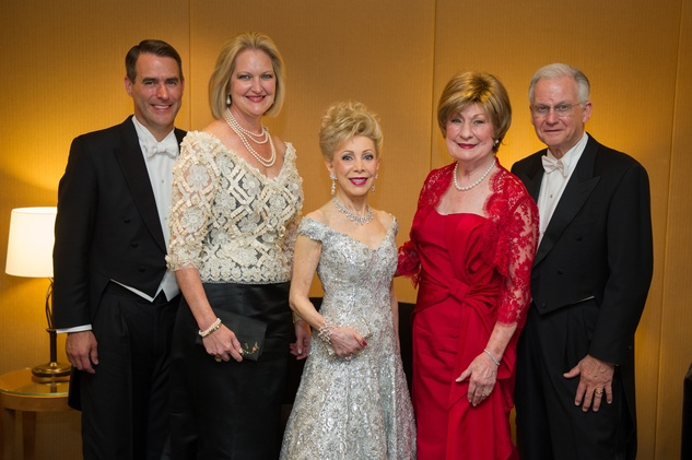 2908 Steve and Joella Mach, from left, Margaret Alkek Williams and Cora Sue and Harry Mach at the Houston Symphony Centennial Ball May 2014