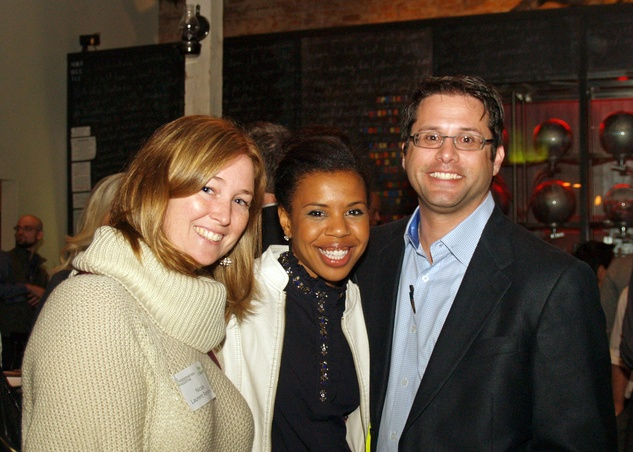 1 Nicole Laurent Romano, from left, Claire Cormier Thielke and Ian Rosenberg at the Preservation Houston Young Professionals party November 2013