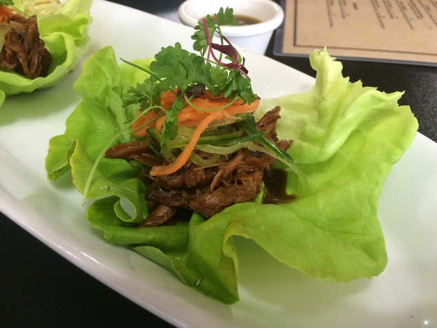 Kitchen 713 November 2014 shredded meat on lettuce