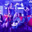Couples dancing at Easton Corbin Rodeo concert March 2014