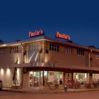 Paulie's, restaurant, exterior night