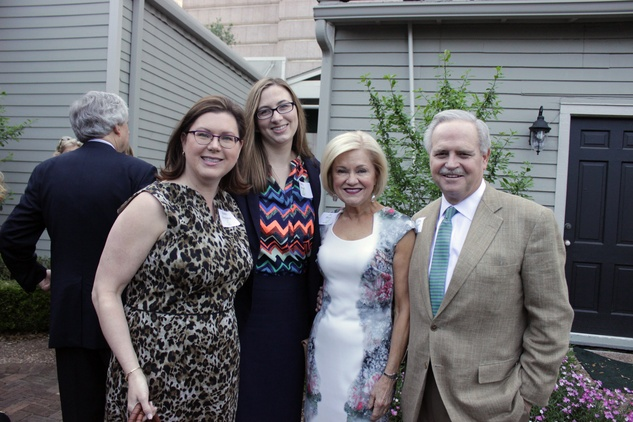 3398 Shawn Stephens, from left, Polly Sims and Jo and Jim Furr at the Houston Heritage Society luncheon April 2014