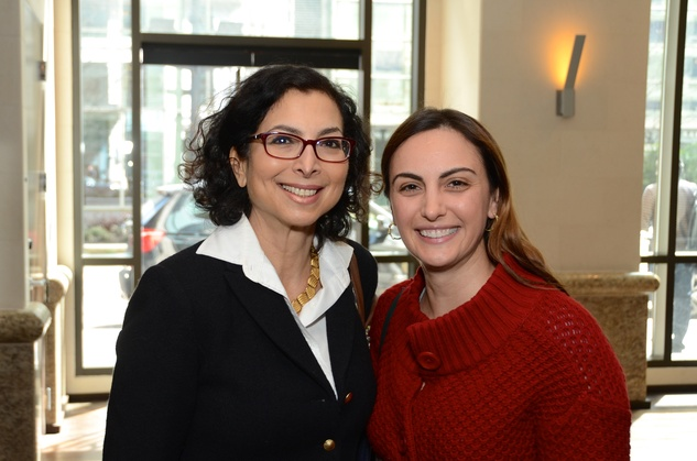 9 Shushana Castle, left, and Rita Kherkher at the Ellevate launch March 2015