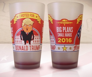 Trump beer glass