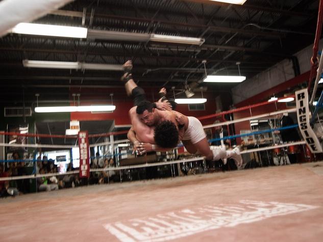 4, Musiqa El Arena performance, December 2012, Shaun El C. Leonardo, wrestling