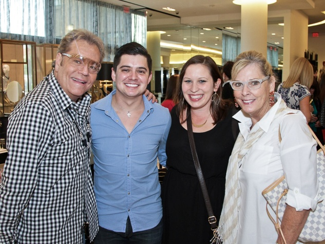 Bubba McNeely, from left, Zachary Webb, Mollie Yarborough and  Sandy Eckles at Camp for All October 2013