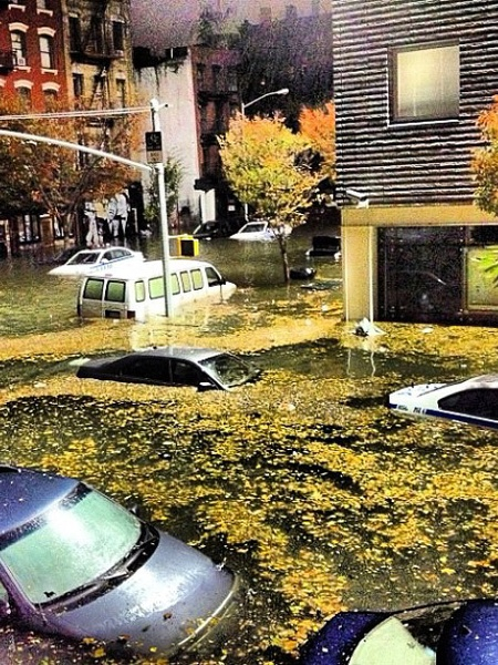 Hurricane Sandy, East Village NYC, October 2012