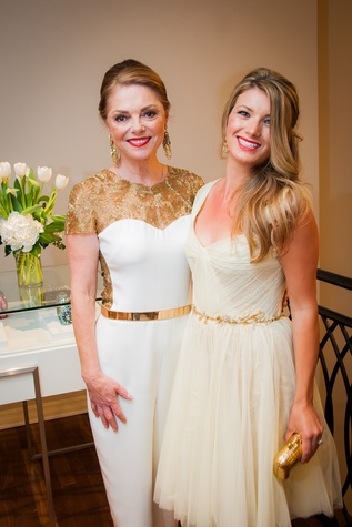 27 Karen Aspromonte, left, and Elie McBarnett at Elizabeth Anthony's Generations of Glamour event May 2014