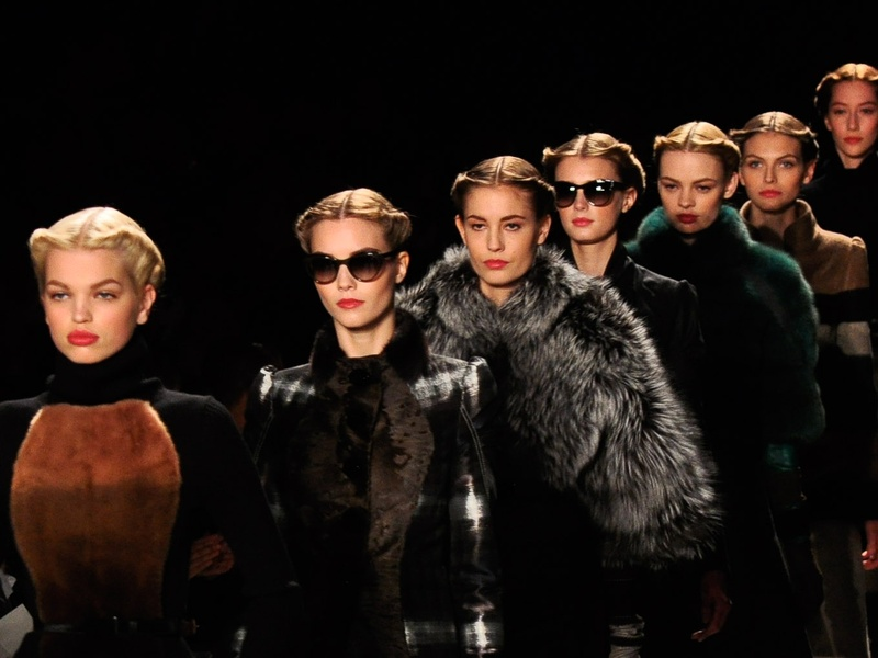 Fashion Week fall 2013, Carolina Herrera, models in line