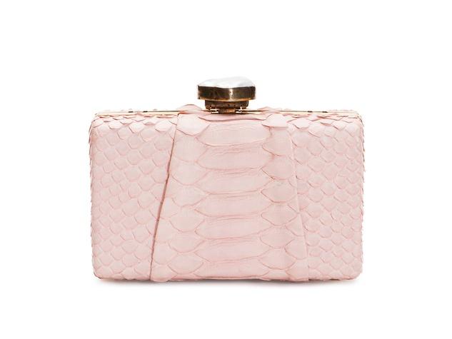 Golden Globes January 2014 Baird & Baird pale pink clutch
