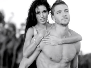 Chandler Parsons and Ashley Sky in ad campaign for Buffalo David Bitton Spring 2014 grouping