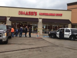 SUV crashes into DiMassi's Mediterranean Buffet November 2014