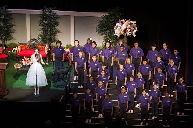 News, Tarra Gaines, Celebration of Reading, April 2015, Olivia Somerlyn with The Houston Children's Choir