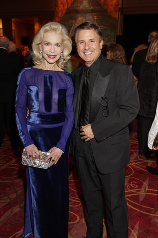 Lynn Wyatt, Ernie Manouse, Moores School gala, March 2014