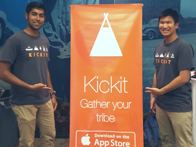 Kickit Inventors Eric Ngo and Ashar Malik