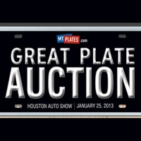 The Great Plate Auction 2013, vanity plates, logo, December 2012