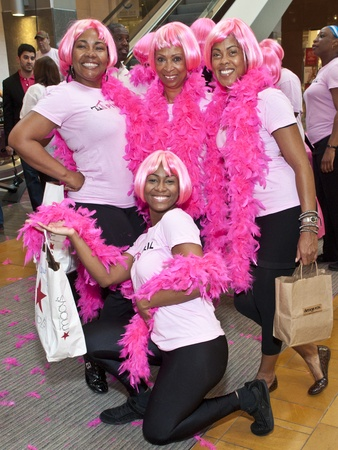 Pink Well_Flash mob_Courtney Alexandria_Deborah Thigpen_Venita Gatson_Yvette Powell
