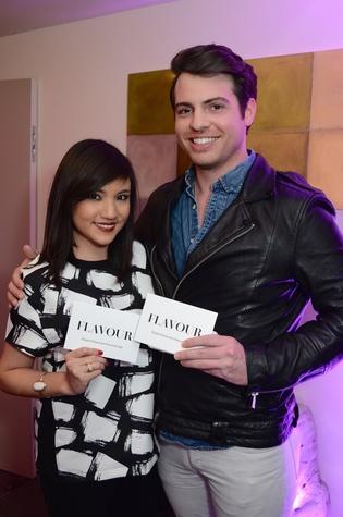 Amanda Calderon and Matt Johns at the Flavour launch at Hotel Derek February 2015