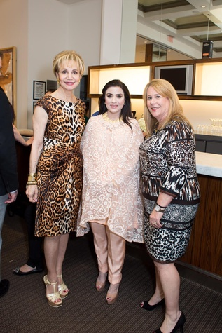 Leisa Holland Nelson, Maha Rasheed Khan, Stacey Swift at International Soiree Kickoff
