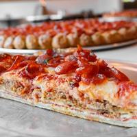 Slice of Meatzilla at Zoli's NY Pizza Tavern in Dallas