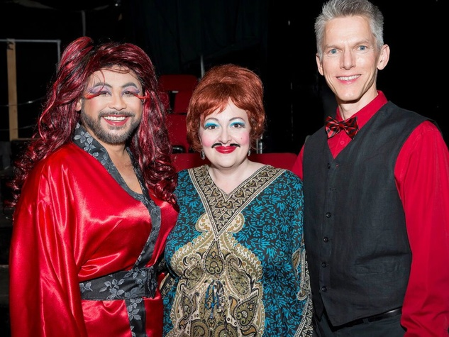 Catastrophic Theatre Drag Ball 2015 Sixto Wagan, Tamarie Cooper and Matthew Dirst
