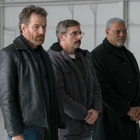 Bryan Cranston, Steve Carell, and Laurence Fishburne in Last Flag Flying