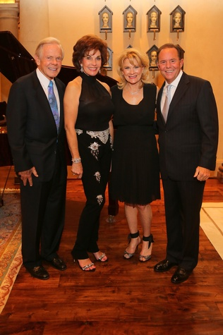 News, Symphony Underwriter dinner, April 2015, Jim and Sherry Smith, Lisa and Jerry Simon