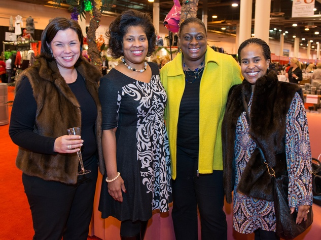 29 Jennifer Wright, from left, Deidra Fontaine, Pamela Bryant and Ima Turner at The Nutcracker Market preview party November 2014