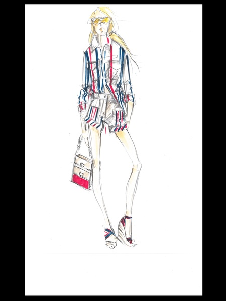 Clifford, Fashion Week, sketches, Tommy Hilfiger women, September 2012