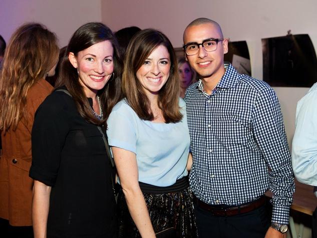 Megan Hodges, Sarah Eisbraun, Xavier Arenas at Need anniversary party