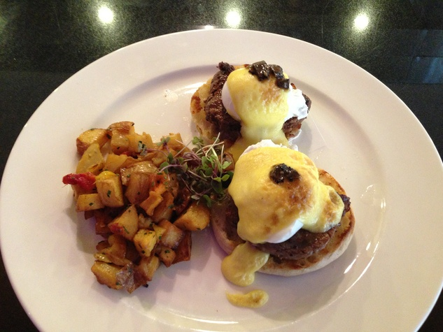 Mr. Peeples egg Benedict with hash browns The Benedicts