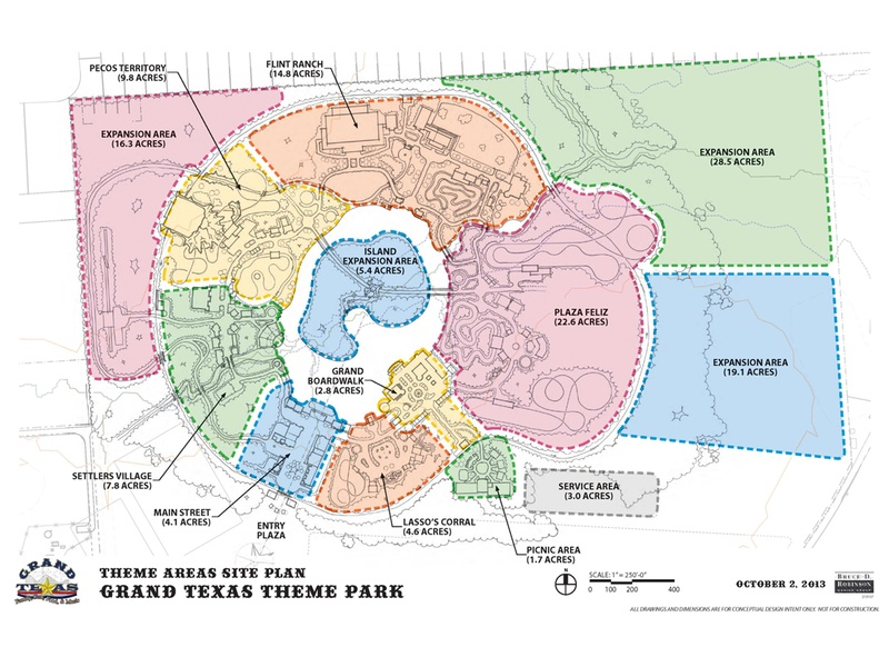 Grand Texas Theme Park and Big Rivers Water Park near Houston to