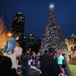 Christmas tree at Klyde Warren Park