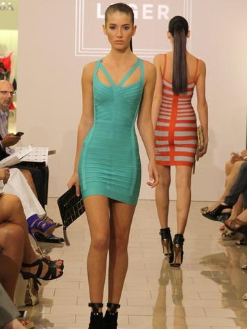 News_Herve Leger_Lobov Azria_April 2012_model_runway